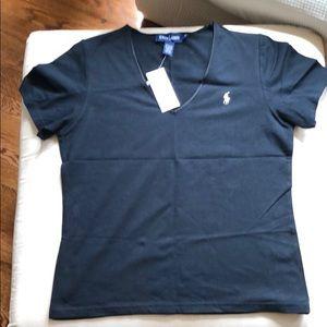 Ralph Lauren M black v neck t shirt